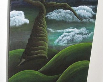 Fantasy Landscape with Twisted Tree
