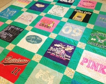 T-Shirt Quilt - Custom Made - Order By-the-Block TShirt Quilt