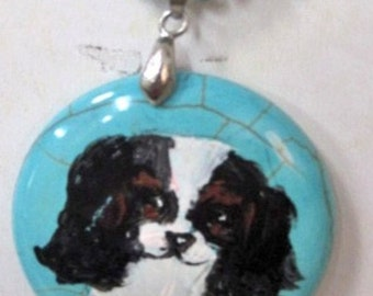 King Charles spanial  necklace