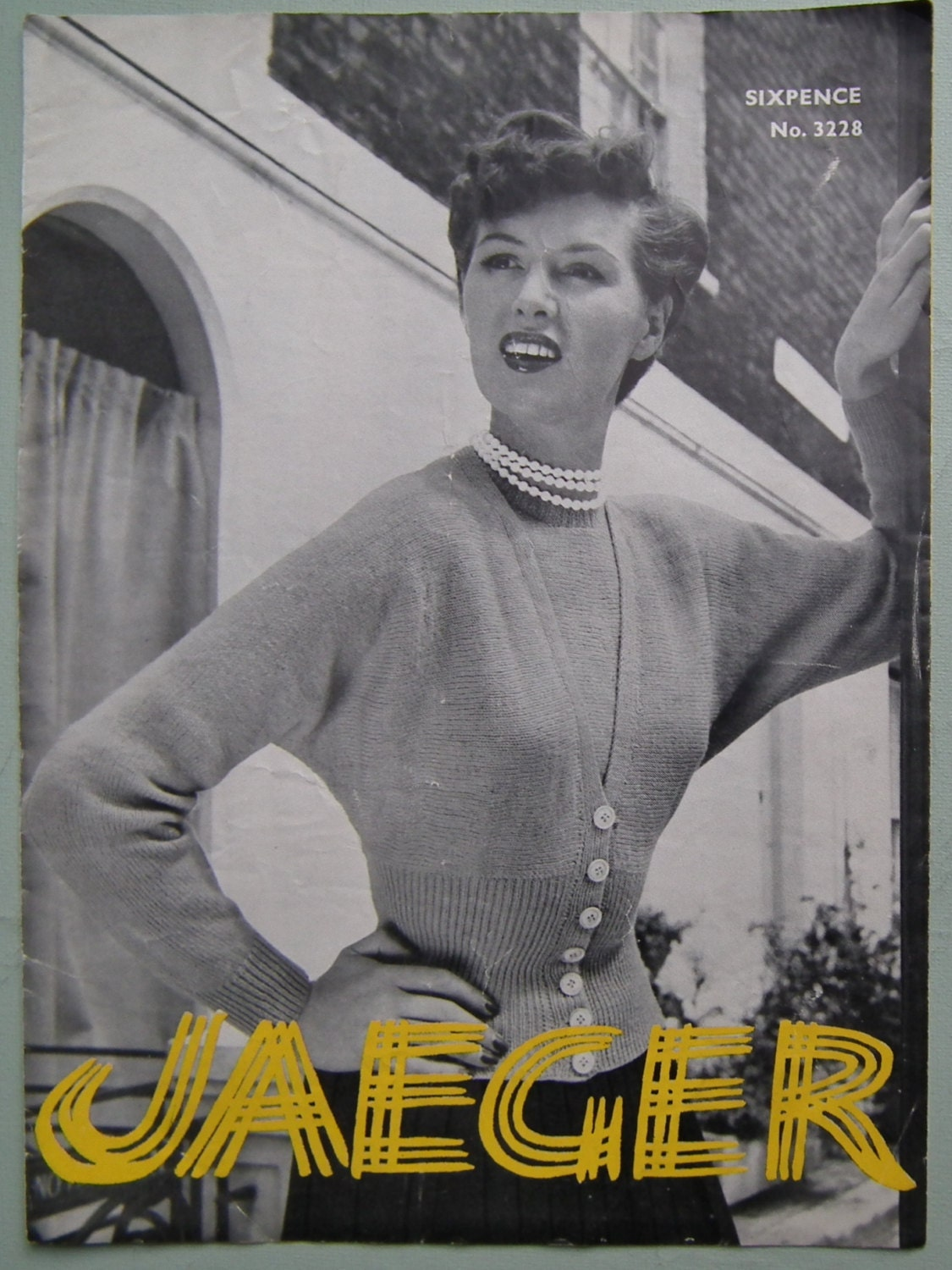 Vintage 1950s knitting pattern womens twin set sweater jumper sold by sewmuchfrippery bankloansurffo Images