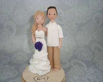 Customized Outdoor/ Beach Theme Wedding Cake Topper