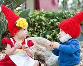 Gnome junge Bart Hat, Gnome Boy Kostüm, stricken Gnome Hut, häkeln stricken Baby Mützen, Elf Bart, Neugeborene Gnome Hut, Baby-Foto-Prop mit Bart