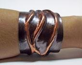 Copper Cuff / Hand Forged Cuff / Statement Cuff / Organic Cuff / Forged Copper Cuff / Hammered Cuff / Copper Cuff Bracelet / Copper Jewelry