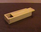 Wooden Pencil Box - Keepsake Box - Jewerlry Box - Pencil Pen Holder - Storage Box - Gift Box