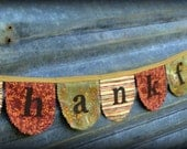 Thankful banner Thanksgiving banner Thanksgiving decor thankful bunting