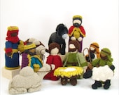 Christmas Crochet Nativity Pattern - Mary Joseph Jesus Shepherds Sheep 3 Kings Camels Donkey - PDF - Creche Pattern - Heirloom Crochet Patte