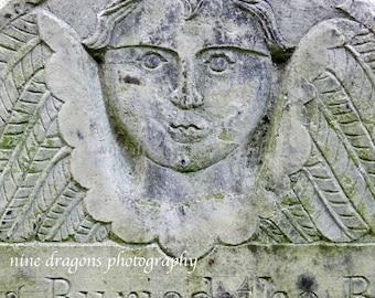 Angel Photography, Angel Print, Gothic Angel Art, Macabre Oddity, Graveyard Art, Cemetery Art, Cherub Art Print, Halloween Home Decor