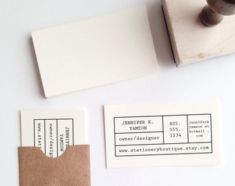 Make-Your-Own Business Card Stamp