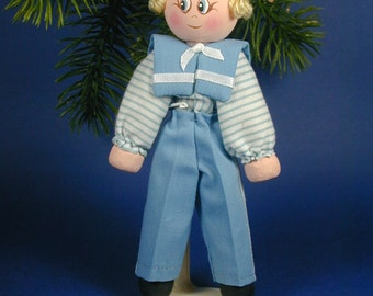 Blue Boy Clothespin Doll