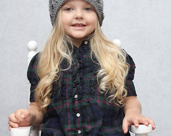 Toddler Girl Clothes Gray Summer Hat Baby Crochet Hat, Little Girls Hat, MADE TO ORDER, Sophia Fashion Beanie