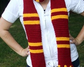 "Gryffindor ""Harry Potter"" scarf -- newer style"
