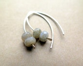 sterling silver earrings in labradorite. faceted labradorite earrings.