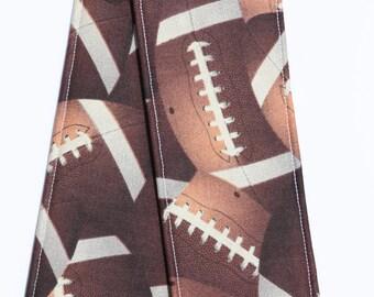 Camera Strap Cover - lens cap pocket and padding - Football