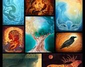 Postcards - Set of Eight Art Prints - Art by Robin Quinlivan
