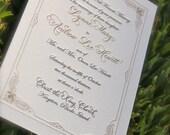 Letterpress Wedding Invitations  DEPOSIT Art Deco