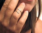 Above Knuckle Ring, Midi Ring, Sterling Silver Adjustable Ring - Serpentine Ring