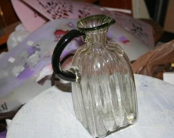 Handblown Art Glass Pitcher