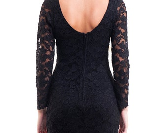 The Vintage 90s Lace Little Black Dress