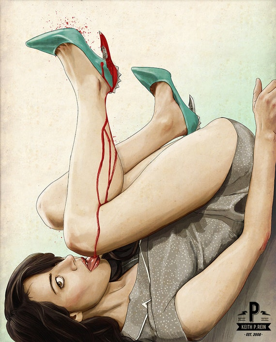 Slaughterhouse Starlets - Aubrey Plaza Print