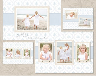 Christmas at the Beach | Christmas Holiday Card Templates