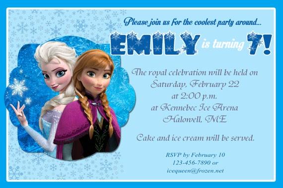 Frozen Birthday Party Invitation Wording