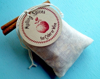 Mulling Spices Sachet - Gift or Favor for fall or winter wedding - shower - party