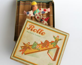 Vintage German Tumbling Toy Clown