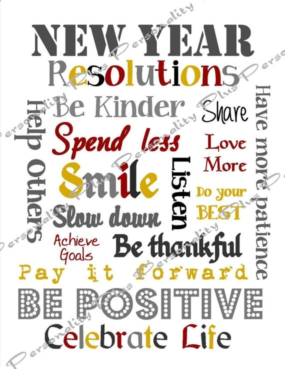 new year resolutions subway art instant download high resolution jpg printable diy