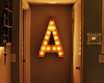 """SALE Letter A - 36"""" Vintage Marquee Lights"""