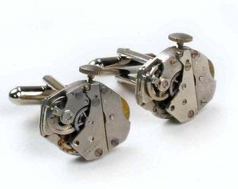 Industrial Design Vintage Watch Steampunk Cuff Links
