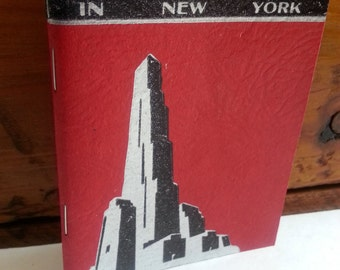 Vintage 1930's Little Journey's in New York Sightseeing Yacht Book