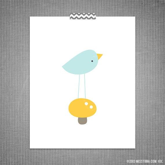 Tweet Bird DIY Printable Digital Wall Art 4x6 5x7 8x10 11x14