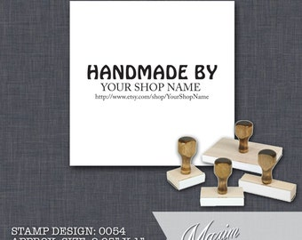Wood Handle Rubber Stamp - Address Stamp, Gifts for Wedding, Housewarming, Etsy Labels, Return Address Stamp, Christmas Card - Design 0054
