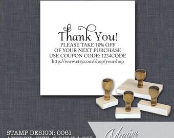 Wood Handle Rubber Stamp - Address Stamp, Gifts for Wedding, Housewarming, Etsy Labels, Return Address Stamp, Christmas Card - Design 0061