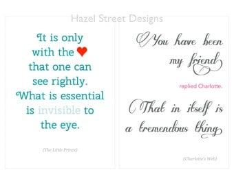 Children's Book Quotes No. 2 - 5x7 - Set of 10 Printables