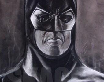 "Batman 89"" Keaton Print of charcoal original"
