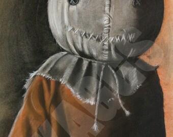 Sam Trick R Treat print of original charcoal drawing
