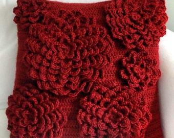 Multi Flower Pillow Cover - PDF Crochet Pattern - Instant Download