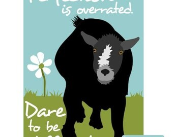 Pygmy Goat Art Print Wall Decor Perfection is Overrated
