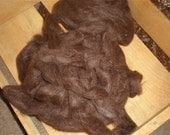 Dark Brown Alpaca Roving 6.6 oz.