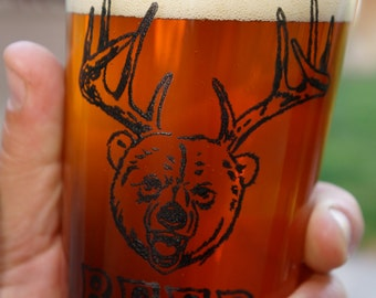 Beer Glass Screen Printed Pint Glass
