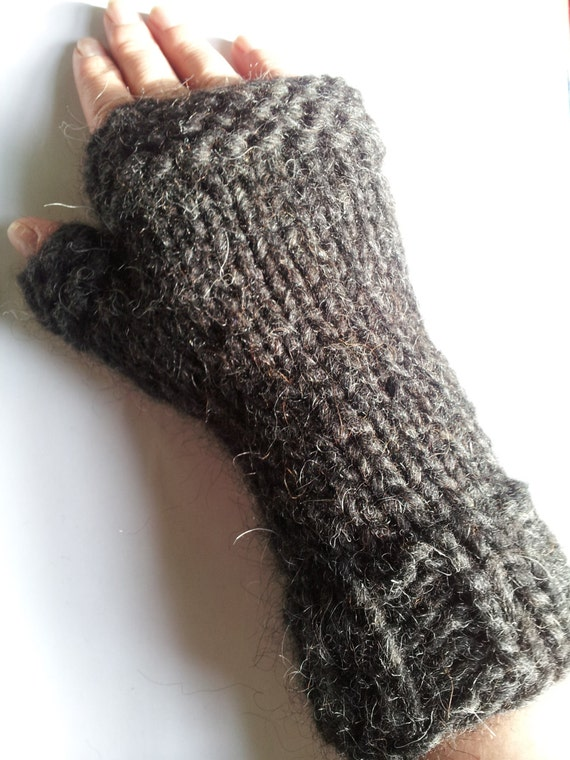 Hand Knitted Extra Warm Fingerless Mittens