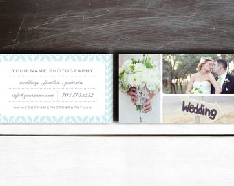 Sale! Wedding Photographer Business Card Templates - Premade Digital Photography Business Card Design (PSD files) - c0015