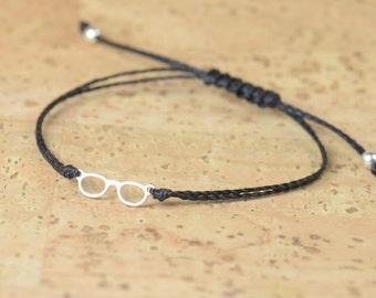 Sterling silver glasses bracelet
