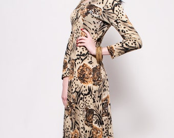 Vintage Long Tiger/Lion Dress
