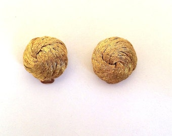 Vintage Jewelry Women's 80's Clip On Earrings, Gold, Round 342