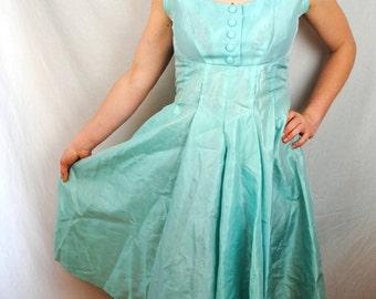 Vintage 1950s Blue Party Dress
