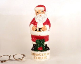 Vintage Santa Claus Figurine - 1970 - Handmade by Bernice A. - Christmas Holiday Home Decor in Diameter 4 x 11.5 price Under 15 USD