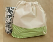Baby Keepsake/Bag/Baby Gift/Baby Album/Green Stripes. Perfect for your Two Giggles Baby Album