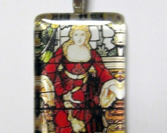 Virgin Mary pendant with chain - GP01-616